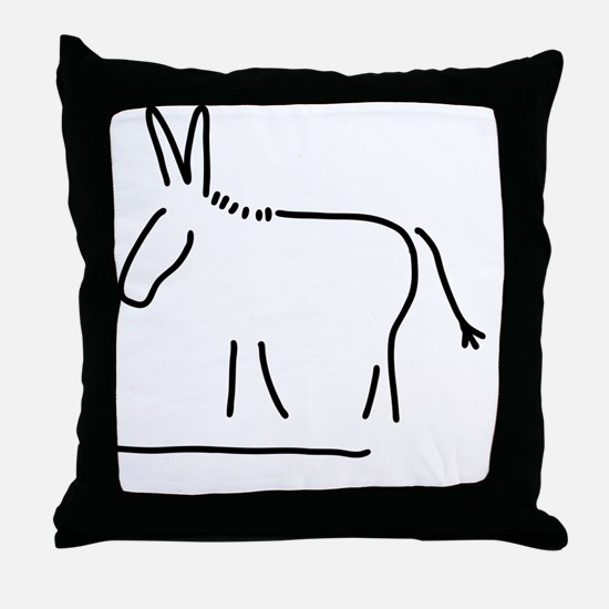 Funny Solitaire Throw Pillow