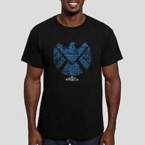 SHIELD Logo Alien Writ Men's Fitted T-Shirt (dark)