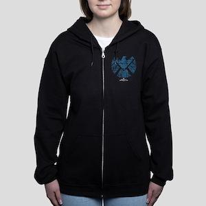 SHIELD Logo Alien Writing Women's Zip Hoodie