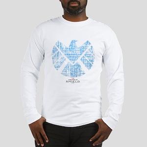 SHIELD Logo Alien Writing Long Sleeve T-Shirt