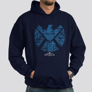 SHIELD Logo Alien Writing Hoodie (dark)
