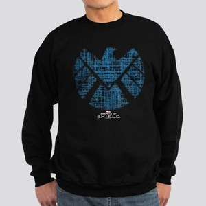 SHIELD Logo Alien Writing Sweatshirt (dark)