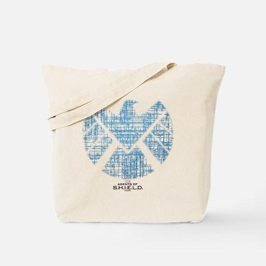 SHIELD Logo Alien Writing Tote Bag