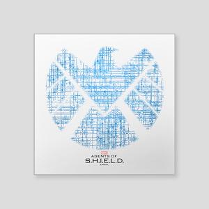 "SHIELD Logo Alien Writing Square Sticker 3"" x 3"""