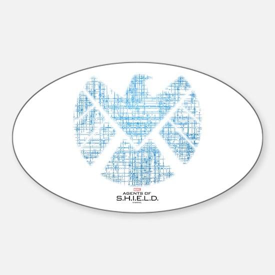 SHIELD Logo Alien Writing Sticker (Oval)