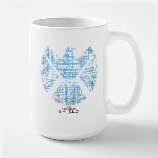 SHIELD Logo Alien Writing Large Mug
