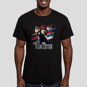 Agent Carter Stripes Men's Fitted T-Shirt (dark)