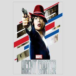 Agent Carter Stripes Wall Art