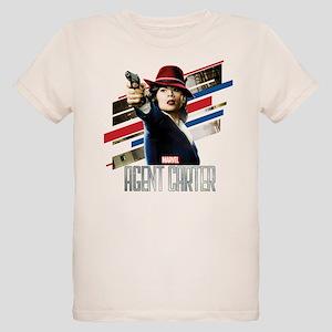 Agent Carter Stripes Organic Kids T-Shirt