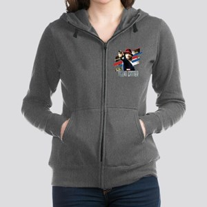 Agent Carter Stripes Women's Zip Hoodie