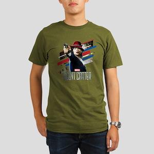Agent Carter Stripes Organic Men's T-Shirt (dark)
