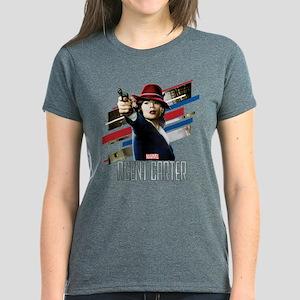 Agent Carter Stripes Women's Dark T-Shirt
