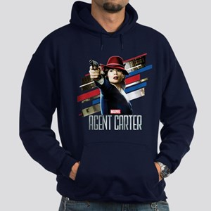 Agent Carter Stripes Hoodie (dark)