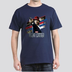 Agent Carter Stripes Dark T-Shirt