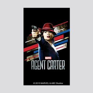 Agent Carter Stripes Sticker (Rectangle)