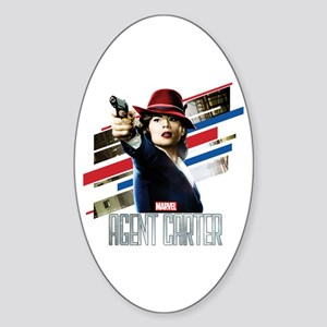 Agent Carter Stripes Sticker (Oval)