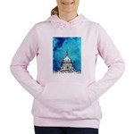 Stormy Weather Over The Capitol Women's Hooded Swe