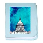 Stormy Weather Over The Capitol baby blanket