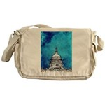 Stormy Weather Over The Capitol Messenger Bag