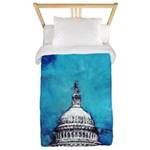 Stormy Weather Over The Capitol Twin Duvet