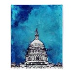 Stormy Weather Over The Capitol Throw Blanket