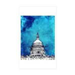 Stormy Weather Over The Capitol Sticker