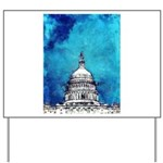 Stormy Weather Over The Capitol Yard Sign