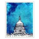 Stormy Weather Over The Capitol Posters