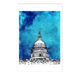 Stormy Weather Over The Capitol Postcards (Package