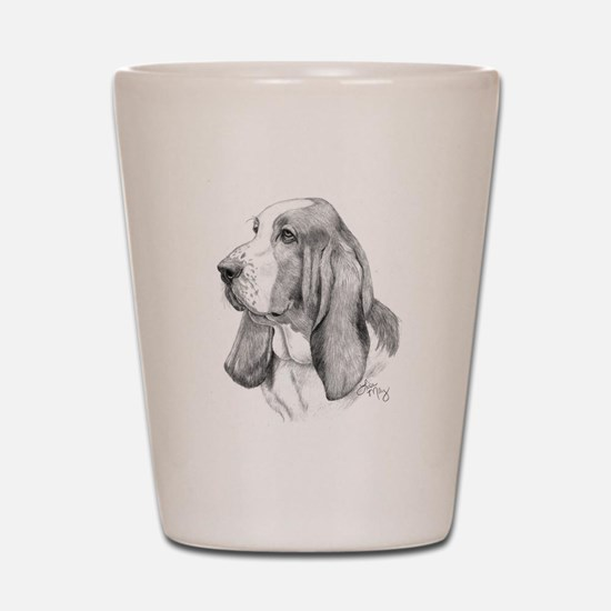 Basset Hound Shot Glass