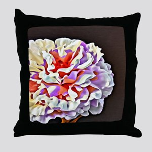 Pop Art Peony Throw Pillow