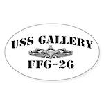 USS GALLERY Sticker (Oval)