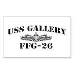 USS GALLERY Sticker (Rectangle)