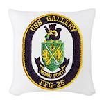USS GALLERY Woven Throw Pillow