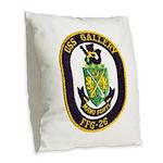 USS GALLERY Burlap Throw Pillow
