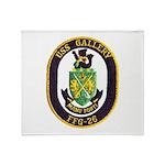 USS GALLERY Throw Blanket