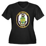 USS GALLERY Women's Plus Size V-Neck Dark T-Shirt