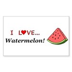 I Love Watermelon Sticker (Rectangle 50 pk)