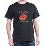 I Love Watermelon Dark T-Shirt