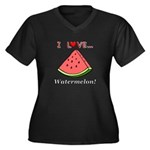 I Love Water Women's Plus Size V-Neck Dark T-Shirt