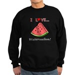 I Love Watermelon Sweatshirt (dark)