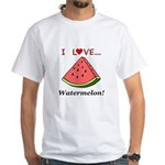 I Love Watermelon White T-Shirt