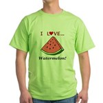 I Love Watermelon Green T-Shirt