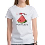 I Love Watermelon Women's T-Shirt