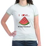 I Love Watermelon Jr. Ringer T-Shirt