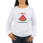 I Love Watermelon Women's Long Sleeve T-Shirt