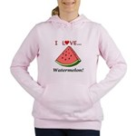 I Love Watermelon Women's Hooded Sweatshirt