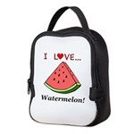 I Love Watermelon Neoprene Lunch Bag