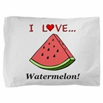 I Love Watermelon Pillow Sham