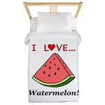 I Love Watermelon Twin Duvet